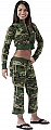 Rothco 1018 Womens Woodland Camo Zip-Up Cropped Sweatshirt