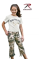 Rothco 2041 Girls Vintage Subdued Woodland Camo Capri Pants