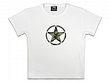 Rothco 8360 Girls White Tee w/Camo Star