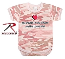 Rothco 67052 Infant Baby Pink Camo 'My Dad Is In The Army' 1pc Bodysuit