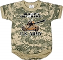 Rothco 67056 Infant Army Digital Camo 'Got Your Back' 1pc Bodysuit