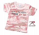 Rothco 67155 Infant Baby Pink Camo 'Thank My Dad' Tee