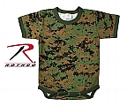 Rothco 69066 Infant Woodland Digital Camo 1pc Bodysuit
