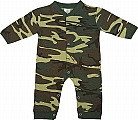 Rothco 67057 Infant Woodland Camo Long Sleeve & Leg 1pc Bodysuit