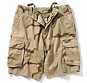 Rothco 2050 Kids Vintage Tri-Color Desert Camo Paratrooper Cargo Shorts