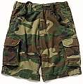 Rothco 2040 Kids Vintage Woodland Camo Paratrooper Cargo Shorts