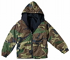 Rothco 8275 Kids Woodland Camo Reversible Fleece-Lined Nylon Jacket
