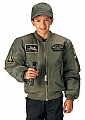 Rothco 7340 Kids Sage Top Gun MA-1 Flight Jacket