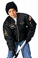 Rothco 7341 Kids Black Top Gun MA-1 Flight Jacket