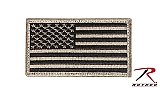 Rothco 17782 Khaki/Black American Flag Patch w/Hook Back