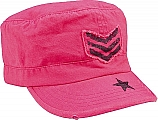 Rothco 1159 Womens Vintage Pink Adj. Fatigue Cap W/Stripes & Star