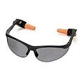 Steelman 96725 Combo Safety Glasses w/Ear Plugs (Smoke)