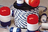 "Handi-Lock Float - 3"" x 5"" Red/White/Red (For 3/8"" Rope)"
