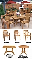 Atlantic Stacking Dining Armchair - Teakwood Finish