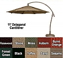 11' Octagon Cantilever Umbrella