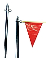"8-Foot Backstroke Stanchion - 1.90"" O.D. x .145"" Wall w/ Top"