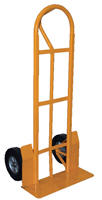 "Vestil SPHT-500S-HD-HR  Steel ""P"" Handle Hand Truck with 10"" x 2"" Hard Rubber Wheels at Sears.com"