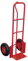 "Vestil SPHT-600S-IND  Steel ""P"" Handle Hand Truck with 13"" x 4"" Pneumatic Wheels at Sears.com"