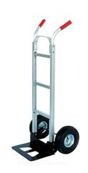 "Vestil DHHT-500A-HR Aluminum Dual Handle Hand Truck, 10"" x 2-1/2"" Solid Rubber Wheels at Sears.com"
