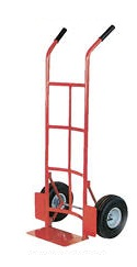 "Vestil DHHT-500S Steel Dual Handle Hand Truck, 10"" x 3-1/2"" Pneumatic Wheels at Sears.com"