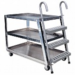 Vestil SPA3-2236   3-Shelf Heavy Duty Extruded Al