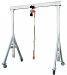 "Vestil AHA-2-8-8 Adjustable Aluminum Gantry Crane, Usable Height: 5'-8""to 8'2"", Cap (lbs): 2000"