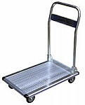 "Vestil AFT-36 Fold-Up Aluminum Platform Truck, Single Handle, 24"" Wx36"" L, 600 lbs Cap"