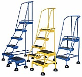 Vestil LAD-2-B-P  Commercial Spring Loaded Ladder